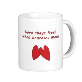 love & neurosis mug available on zazzle