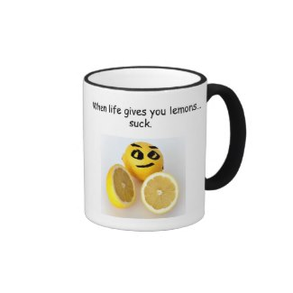 sucking lemons mug available on zazzle